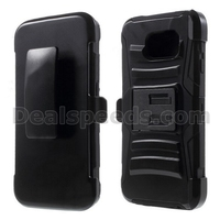 Silicone and Plastic Combo Belt Clip Holster Case for Samsung Galaxy S6 G920 with Kickstand