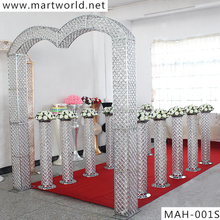 hight quality RGB led light crystal arch led backdrop wedding stage for wedding decoration and party decoration(MAH-001)