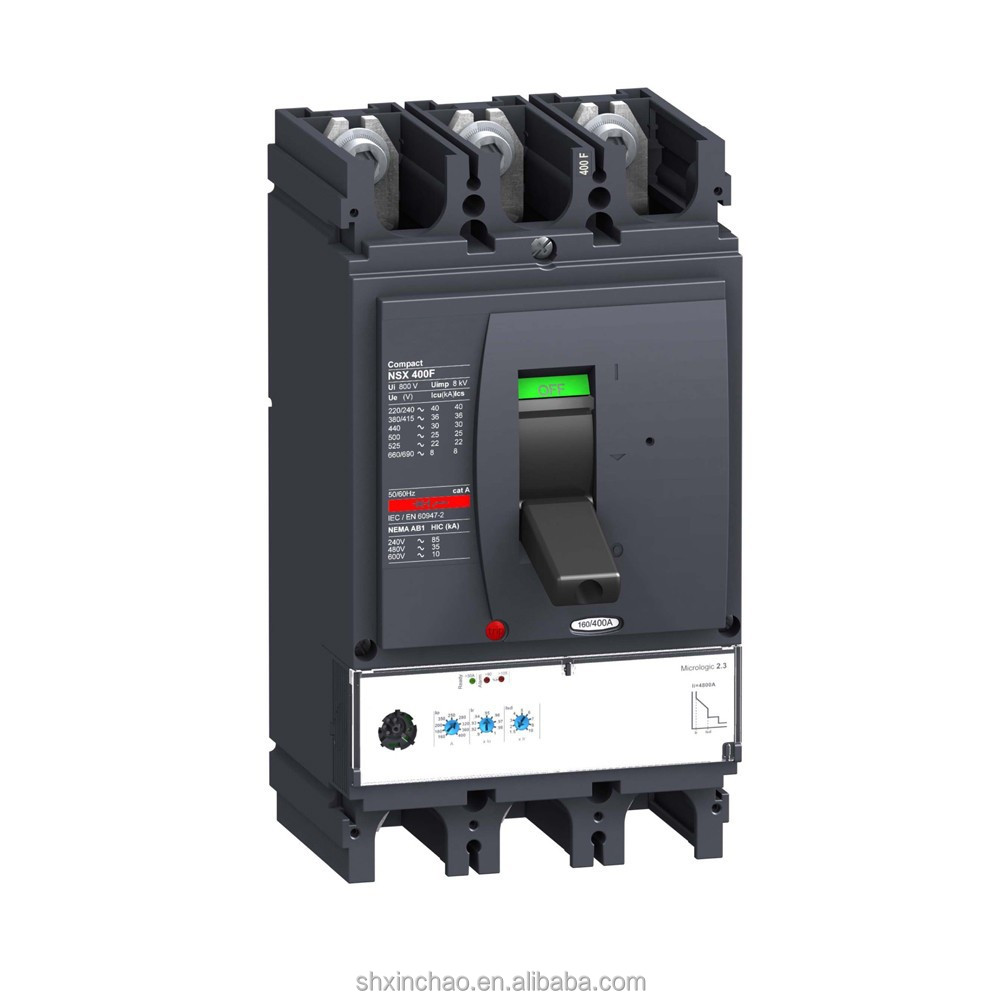 Compact NSX100 NSX160 NSX250 NSX400 NSX630 100A 160A 250A 400A 630A 3Pole 4Pole Moulded Case Circuit Breaker MCCB