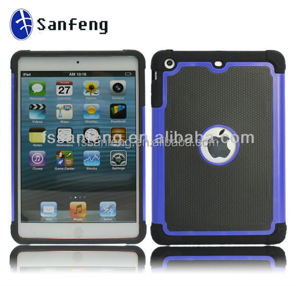 Soft Silicon Hard PC Case For IPad Mini 1/2/3 Shockproof Protective Cases Back Cover for ipad mini