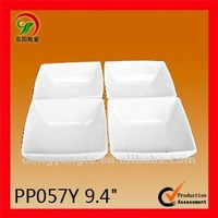 4Pcs plain white porcelain dinnerware sets