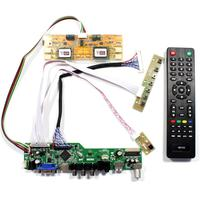 TV HDMI VGA AV USB AUDIO controller board for 1280x1024 30 Pin 4 lamp lcd panel