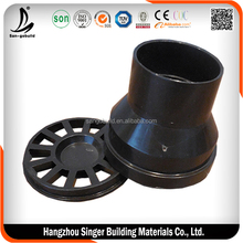 Low price black plastic water line pipe fittings, hot sale water pipe accessories