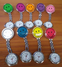 100pcs nurse watches luminous watches smile watch noctilucent watches iron watches DHL Freeshipping