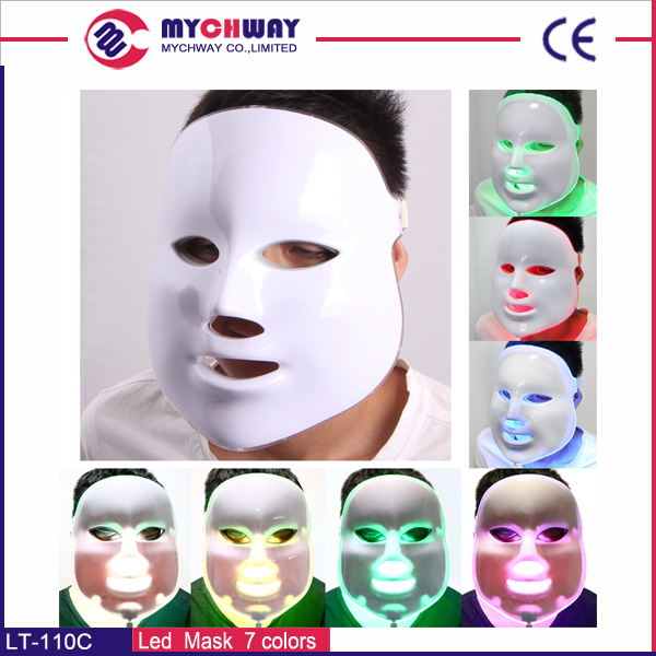 PDT 7 color lights led photon therapy mask facial mask for face lifting from mychway