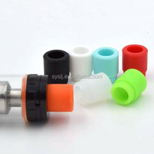 Disposable rubber 510 drip tips colored silicone test tip for e-cig vaporizers tank 510 mouthpiece wrapped drip tip tester