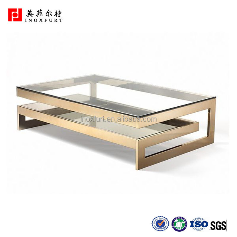 Stainless Steel Golden Polished Dining Table Frame
