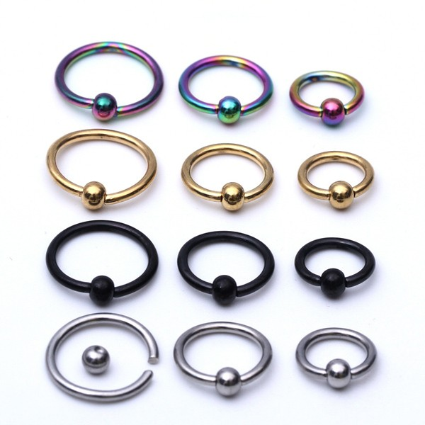 Wholesale Jewelry Stainless Steel BCR Ball Closure Ring Nose Ring