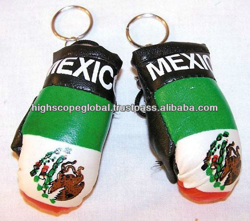 Promotional Mini boxing gloves Key chain all colors