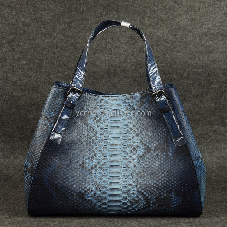 luxury python leather lady handbag_python skin handbag_exotic skin handbag