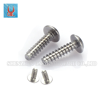 Metric stainless steel round head countersunk flat with washers screws