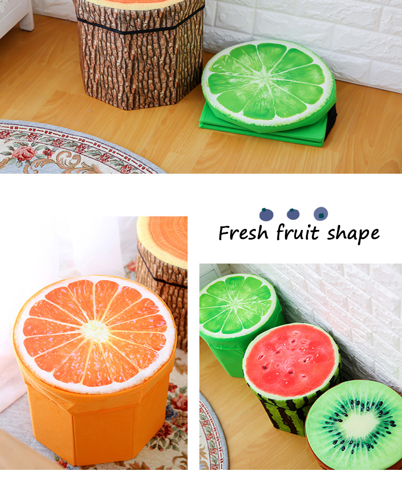 Wholesale Cheap Special Children  Fruit Shaped Storage Ottoman Stool