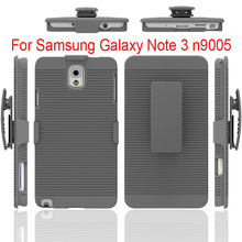 Factory wholesale hard case holster kickstand belt clip case for Samsung galaxy note 3 n9005