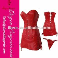 Factory Price!Red xxxl Sexy Leather Corset