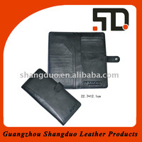 High Quality Genuine Leather Passport Case With Button Closing