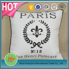 Wholesale Cheap White Hotel Cushion with Printed Cushion Cover