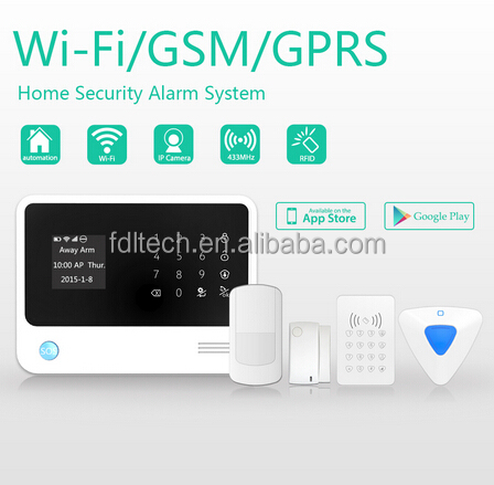 FDL home alarm ,Intelligent home automation alarm ,Touch Keypad Wireless GSM Home Security Alarm System + External Flash Siren