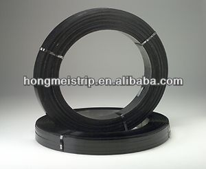 Tianjin Manufacturer high tensile black painted steel packing Strip ,Metal packing strip