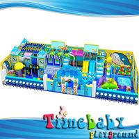 Kids indoor playground about fiberglass playground equipment (electric water slide)