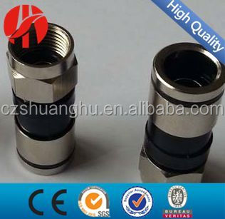 High quality Connectors for cable coaxial rg6 Europe Type rg6 compression f connector conector rg6