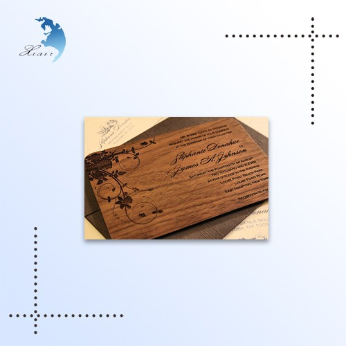 Chinese Wooden Wedding Invitation Card Models,Handmade Wooden Wedding Invitation Card
