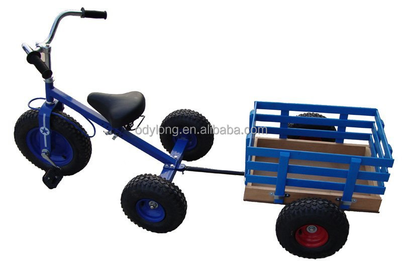 Happy cheap kids tricycle with trailer F80AB