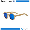Unisex revo colorful lens hand engraved 100% round custom wood sunglasses