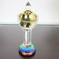incense craft crystal glass egyptian oil burners
