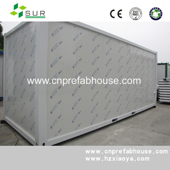 Modular container office with security net