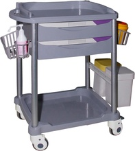 Abs emergency drugs <strong>equipment</strong> hospital cash cart trolley