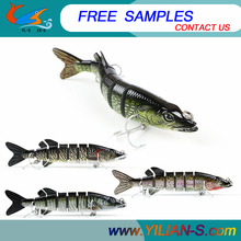 China factory 7.0inch 58.4g Jointed pike fishing Lure Free Fishing Tackle Samples