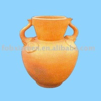 unglazed clay amphora