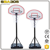 Portable child metal basketball stands adjustable basketball goal post
