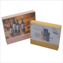 Makeup and Wine advertising Magnetic acrylic photo frame with wooden base