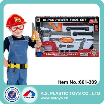 661-309 15 PCS Children power civil construction tools play at home