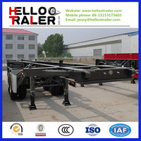 2 Axles Skeleton Trailer( Load 40 Feet Container)