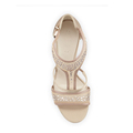 Beige suede upper silver diamond open toe elegant fashional 10cm high heel women' brilliant shoes