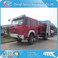 6*4 HOWO 336HP 10000L fire fighting truck with water and foam tank