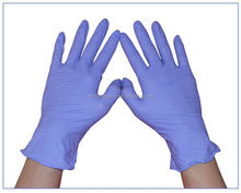 Finger embossed dark blue powder free disposable nitrile gloves with CE/ISO/FDA certification