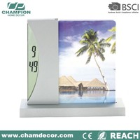 Lcd table calendar digital clock and frame