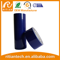 PE transparent protection film /tape 30-150um blue film with different size