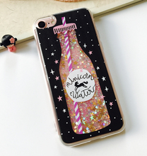Free Sample Printing Case For iphone 7 case Soft TPU Mobile Case Shining Glitter Liquid Flow Quicksand Cover for iPhone 7 plus