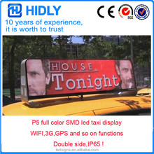 SMD advertising Taxi Roof LED Sign/ Car Top Display/Taxi Light Box support display video
