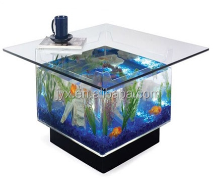 Live Fish Display Aquarium Glass Tank for Crab or Shrimp or Jellyfish Glass Fish Tank