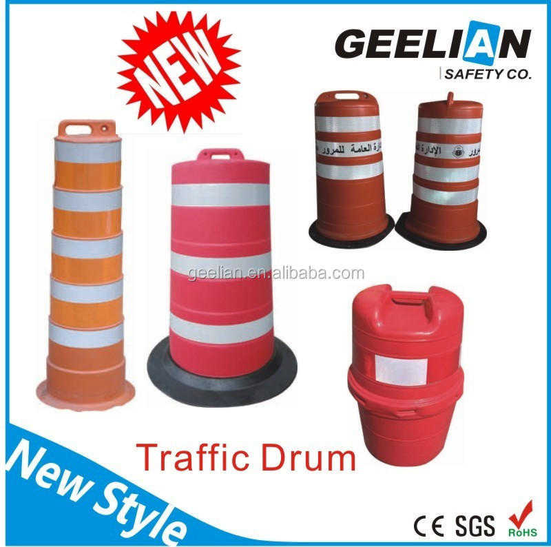 US Standard Traffic Drum / Plastic Road Barrier / Road Equipment