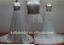 Good beading sash Sew into dress~~off the shoulder wedding dress