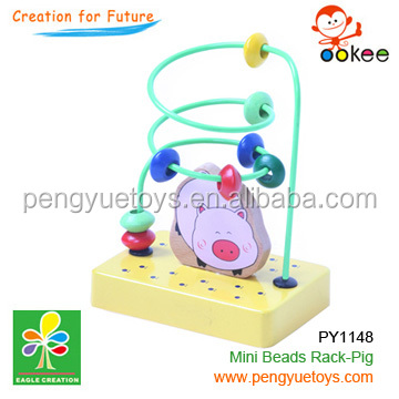 Colorful Piggie Wooden Rollercoaster