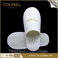 5mm eva sole travel slippers airline slipper with pure cotton plus material