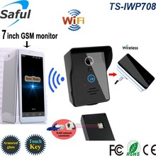 2015 touch key GSM 3G Wireless video door phone with android & ios APP