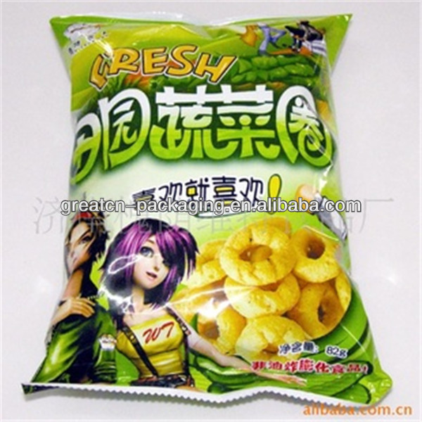 Customized Plastic chips food packaging design